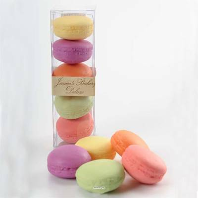 Macarons assortis factices x5 touché réel
