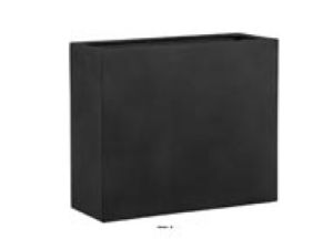 Bac fibreglass et composite Huge Outdoor Claustra L 100x40xH 80cm Noir